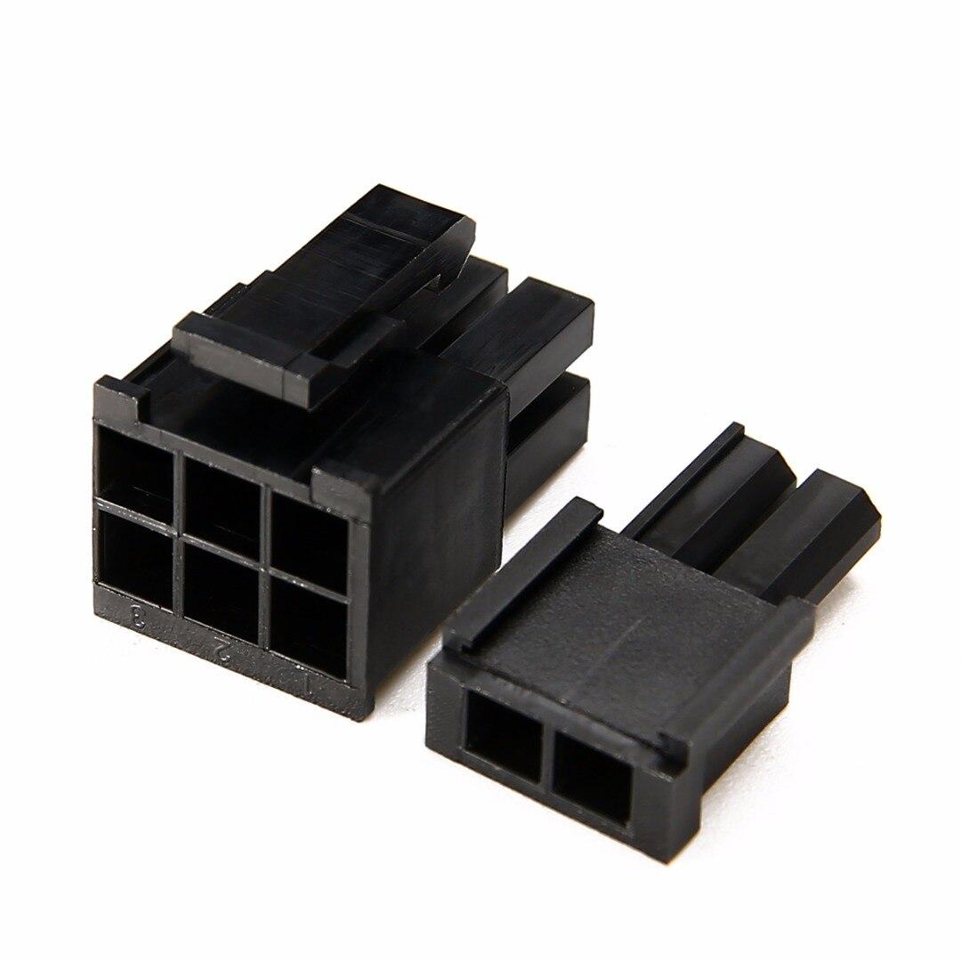 Mayitr 50pcs 5557 8(6+2)P ATX EPS PCI-E Connector With 400pcs 5557 Female Terminal Crimp Pin Plug Plastic Box Sets