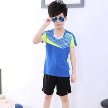 Children Tennis clothes boy tracksuit , Sports children table tennis clothes kids , sport running Badminton clothes 5053(China)
