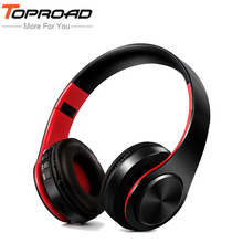 TOPROAD Wireless Stereo Bluetooth Headset Headphone Foldable Headband Headphones Earphone Support Mic Micro SD/TF Music FM Radio(China)