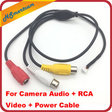 CCTV Security video Mic Audio FPV mini Camera Audio + BNC RCA Video + Power Cable CCTV Accessories DC 12V(China)