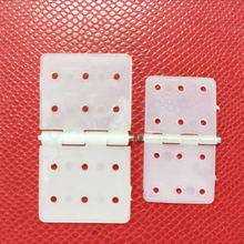 20pcs/lot Nylon Plane Hinge for RC Airplane 20*37mm 15*27mm Dropship(China)