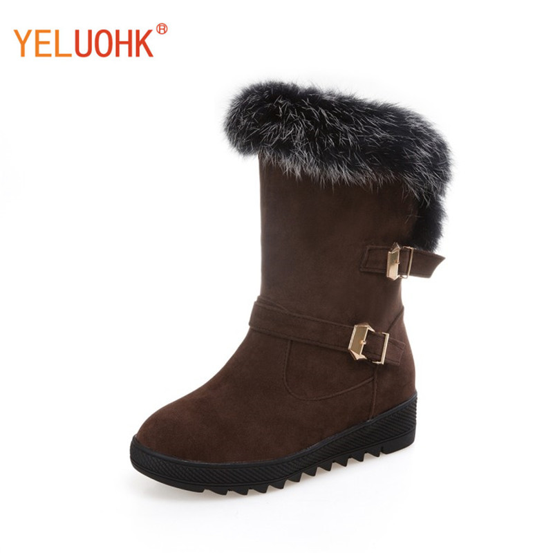 34-43 Women Winter Boots Plush Warm Snow Boots Women Winter Shoes Women Boots Big Size<br>