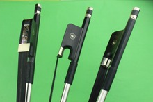 1 pc  New high quality 3/4 Carbon fiber double bass bow black horse hair
