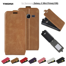 For Samsung Galaxy J1 Mini Prime Luxury UP-Down PU Leather Flip Back Cover Skin Phone Case For Samsung J1 Mini Prime J106 Coques