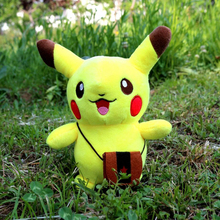 Classic Toys 24cm Pocket Monster Pikachu Plus model Sucker Cots Accessories Stroller Strap Cartoon dolls