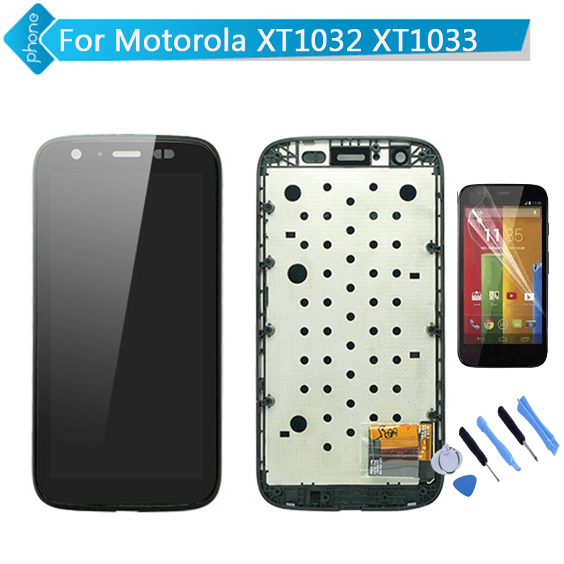 LCD Display Touch Screen Digitizer with Frame Assembly For Motorola MOTO G XT1032 XT1033 +Tools +Screen Protector<br><br>Aliexpress