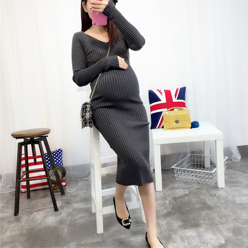 2017 summer plus loose soft warm maternity sweater and medium long pullover clothes for pregnant women<br>