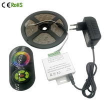 5M 10M 15M 2835 LED Strip rgb Set RGB non waterproof 54leds/M + Wireless RF touch Controller remote 12V 3A Power Supply Adapter