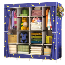 Home-Furniture Closet Storage Cabinet Diy Wardrobe Folding Portable Non-Woven Cloth Large-Capacity