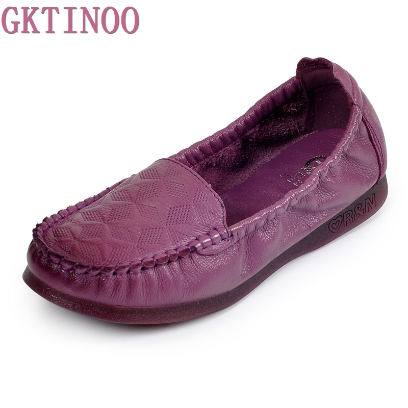 Handmade vintage womens shoes genuine leather female moccasins loafers soft slip-resistant color block casual shoes flats<br>