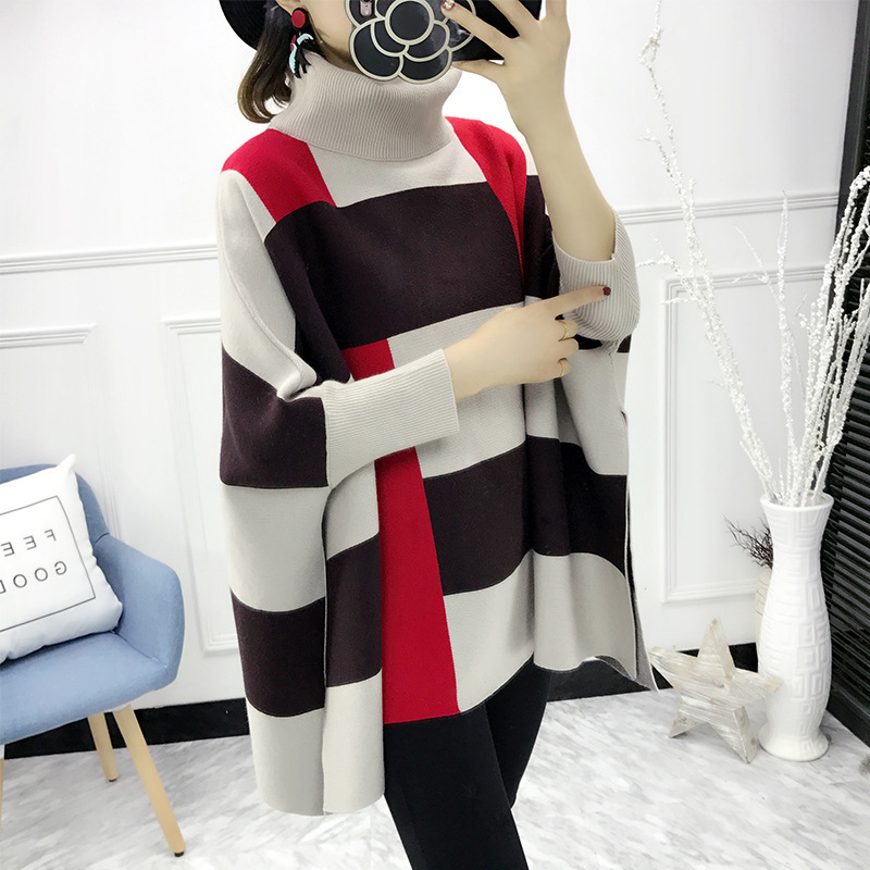 2017 Pregnant Women Fashion Autumn and winter Collar New Character Pocket Hit Sleeve pregnancy Loose Cashmere maternity Sweater<br>