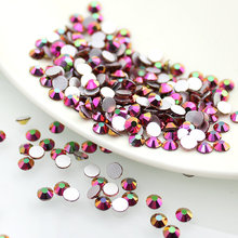 Rainbow AB SS3-SS20 3D Nails Art Tips Glass Rhinestone Flatback DIY Nail Deco Beads not hotfix use glue 1440pcs Wedding deco(China)