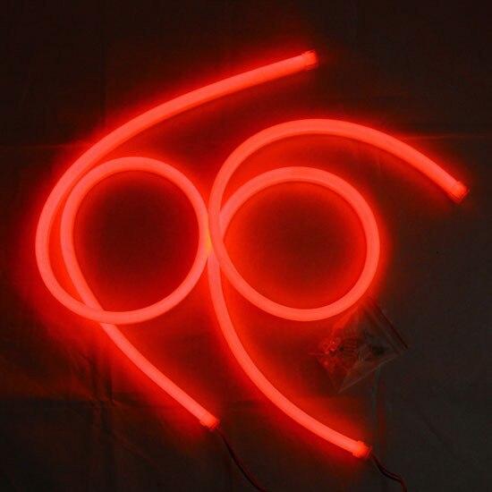 2x 85cm Flexble Soft Tube LED Strip Daytime Running Light Car Headlight Lamp DRL Yellow Turn Red Color<br><br>Aliexpress