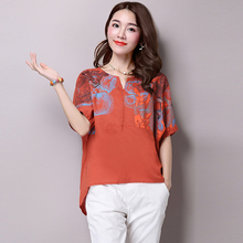 2017 autumn tops short sleeve yellow office women tops blouse with pocket linen fashion casual blusas body shirt