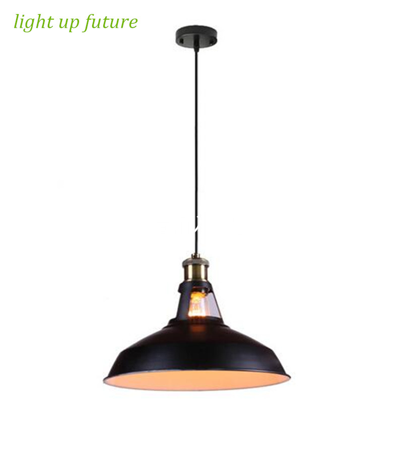 2016 American style vintage loft iron black pendent lights for dining room bar decor lamp E27 N1247<br><br>Aliexpress