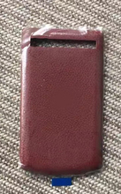 Limited Stock!! 100% Brand New Original Quality Wine Red Leather Battery Cover Replacement for BlackBerry Porsche 9983