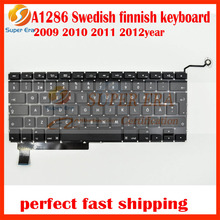 A1286 Swedish Finnish keyboard for macbook pro 15.4'' a1286 Sw SE FI keyboard without backlight 2009 2010 2011 2012year(China)