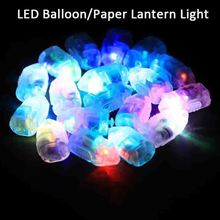 HAOCHU 20pcs White LED Balloon Paper Lanterns Lamp Lights RGB Flash Lamps Lights for Hanging Ball Wedding Christmas Party Decor