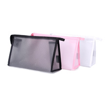 RDGGUH New Travel Mesh Cosmetic Bag Women Fashion Beauty Makeup Transparent Make Up Bags Organizer Storage Pouch Toiletry Bag