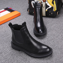 Free Shipping Women  Genuine Leather Ankle Boots Women Martin boots  Winter Snow Boots Size 35-40