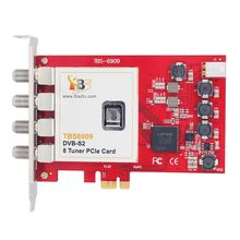 Octa tuner card!TBS6909 DVB-S/S2 8 TV Tuner PCIe Card for Watching and Recording Satellite FTA channels /Radio Programs on PC