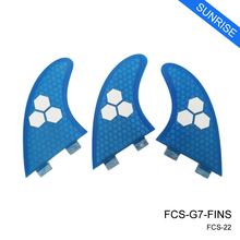 Wake Board Surfboard Fin FCS G7 Fin 5 Colors Available Honeycomb Fiberglass Fin Free Shipping