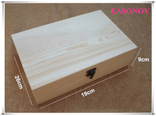 Large Clamshell Vintage Wooden Storage Box Rescue tool box Craft Jewelry Natural Wood Packing box Clothes Book Organizer box