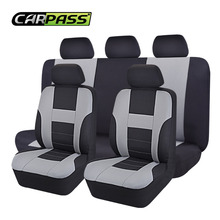 Car-pass  Mesh Fabric Auto Interior Accessories  Car Seat Covers Universal Car-covers Protector For Volkswagen BMW Ford Lada