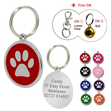 Customized Dog Tag Personalized Engraved Dogs Cat ID Tags Pet Collar Pendant For Kitten Puppy(China)