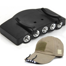 High Quality Ultra Bright 5 LED Clip On Cap Light Hard Hat Outdoor Fishing Camping Cycling T479