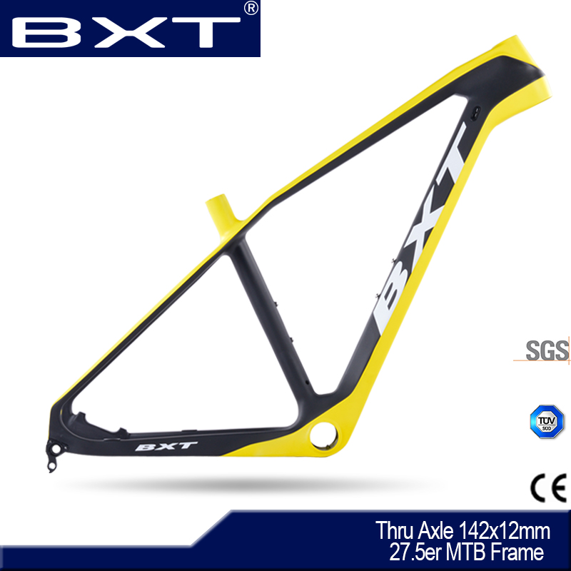 BXT Carbon Bicycle MTB Frames China 2017 NEW Mountain Bike Frame 27 5ER Ultralight AXIS 12mm EXchange OPEN 9MM bike carbon Frame