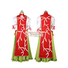 DJ DESIGN Touhou Project Shrine Wild and Horned Hermit Ibaraki Kasen Cloth Cosplay Costume