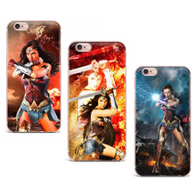 Case For iPhone 7 X 6 5S 4 5 8 7 Plus Soft TPU Cases Cover Lovely Wonder Woman Series Mobile Phone Shell Patterned Cute Exotic(China)