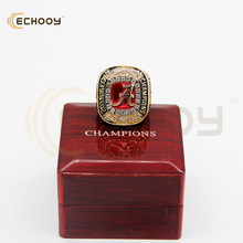 2016 Alabama Crimson tide sec championship ring with wooden red box(China)
