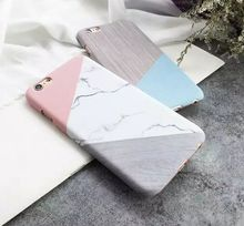 Kerzzil Fashion Marble Lines Geometric Mosaic PC Hard Case For iPhone 7 6 6S Plus Marble Stone Phone Cover Back qian