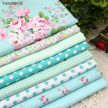 8 PCS 40cmx50cm Victoria set flower Printed cotton fabric for quilting patchwork tecido tela clothing bedding tissus(China)