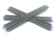 High quality steel metal long extension springs with hooks supplier, 1.5x 15x300mm
