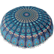 Round Cushion Cover 80*80cm Large Floor Pillows Case Round Bohemian Meditation Pillowcase Ottoman Pouf Dropshipping Aug18(China)