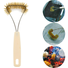 NHBR BBQ Food Barbecue Grill Cleaning Brush T-Brush - Brushed Stainless Steel Handle