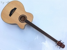 4 string fretless acoustic bass guitar with free case free shipping(China)