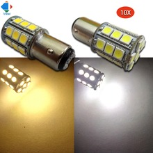 Viewi 10x 1157 DC 12 volt super bright car turn lights 12v smd 5050 27 leds Auto mobile Wedge Lamp Tail Bulb light