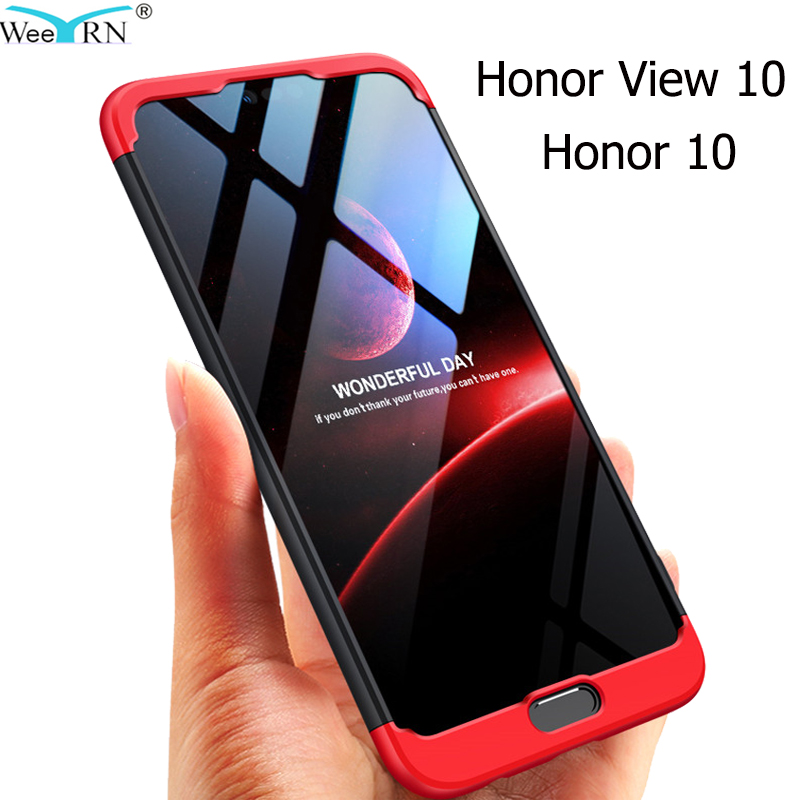3-in-1 Plastic Hard 360 Full Protect Case FOR Huawei Honor View 10 / Honor 10  Cover Anti-Shock Fully PC Case Honor View 10(China)