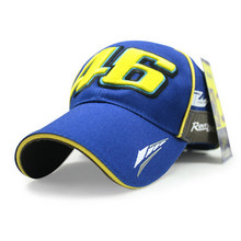 Factory Direct Sale New MOTO GP VR 46 rossi Baseball Cap Black Blue cap Car Motocycle Racing Sun Hats Casquette Strapback(China)