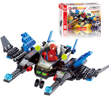 133pcs/set Fighter Educational DIY Construction Bricks Toy Kit Assembling Building Blocks Toys(China)
