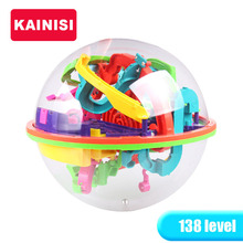 20CM 138 Steps 3D Puzzle Ball Magic Intellect Ball educational toys Puzzle Balance IQ Logic Ability Game For Children adults(China)