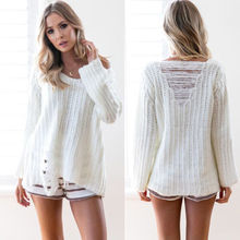 Womens Long Sleeve Sweater Ladies Dress Jumper Pullover Tops