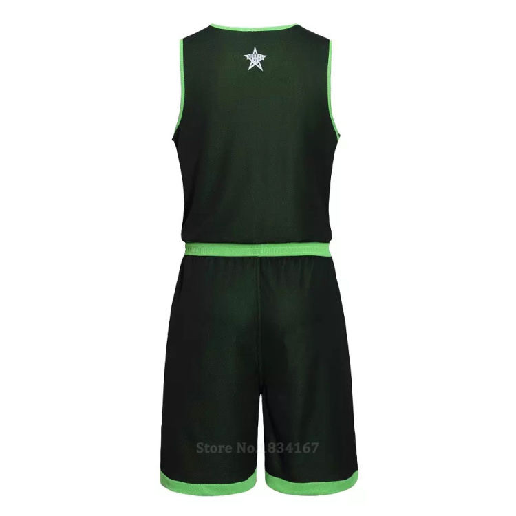 17 Men Reversible Basketball Set Uniforms kits Sports clothes Double-side basketball jerseys DIY Customized Training suits 19