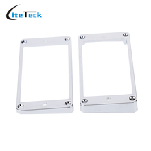 Good Quality Chrome-Plated Plastic Guitar Pickup Frame Mounting Ring for Electric Guitar Silver Guitar Parts & Accessories(China)