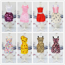 15 Items =5 Pcs Fashion Handmade Mini Cute Dresses&Clothes Party Skirt Lady +5 Pairs Shoes +5 Hangers For Barbie Chloe Liv Doll(China)