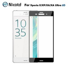 Nicotd For Sony Xperia X /X performance 3D Curved Full Cover Tempered Glass Screen Protector For Sony Xperia XA Ultra Glass Film